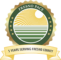 Fresno PACE 5 year logo